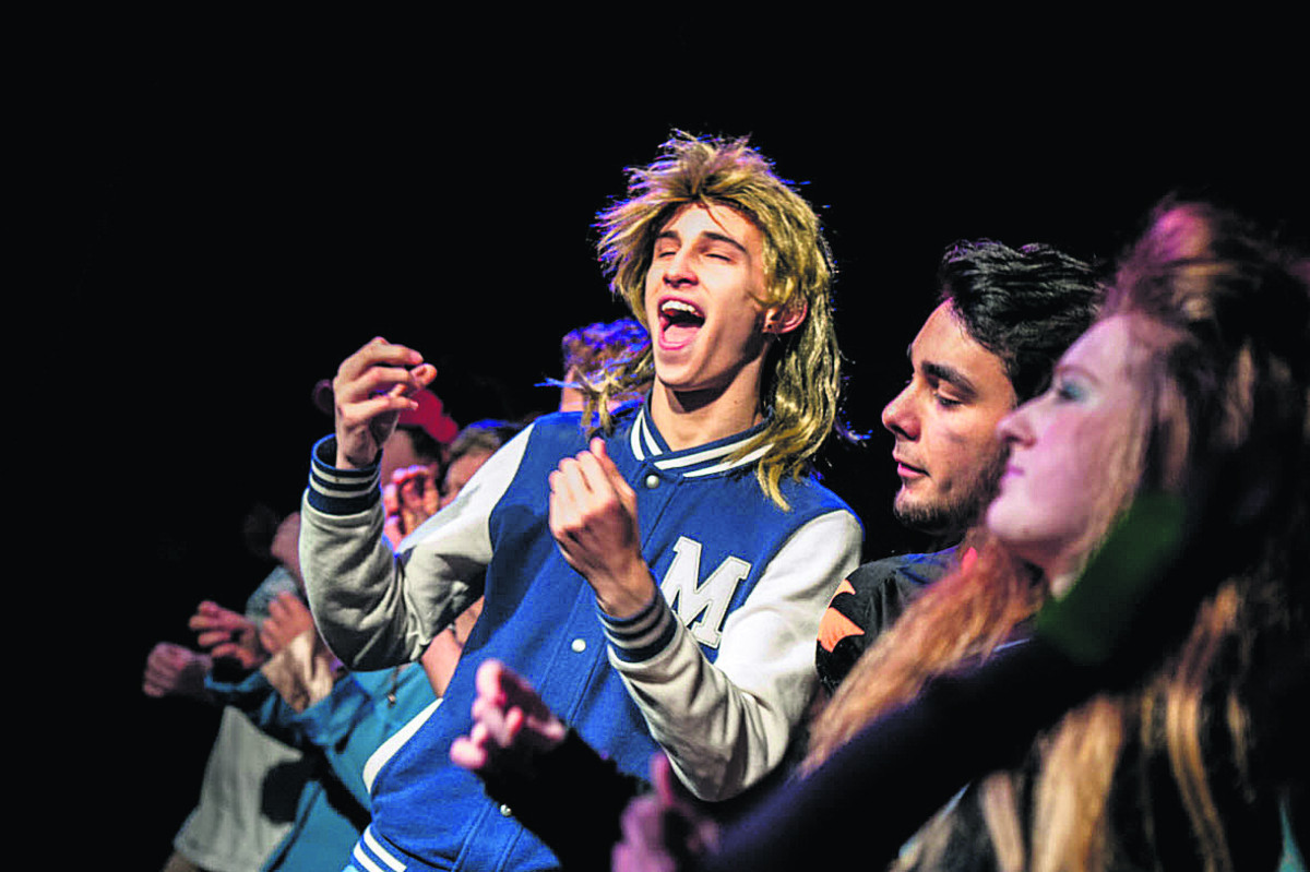 Our new freelancer, Aimee Kirkham, did a fine job capturing the 1980s' flavour and bad hair, down at Didcot Girls' School's musical. You can virtually hear the tunes Footloose and Hey Mickey blasting out from her images, with Mark Foy in the mullet wi