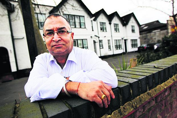 Abingdon Road guest house owner Narinder Bhella is bracing himself for more flooding.