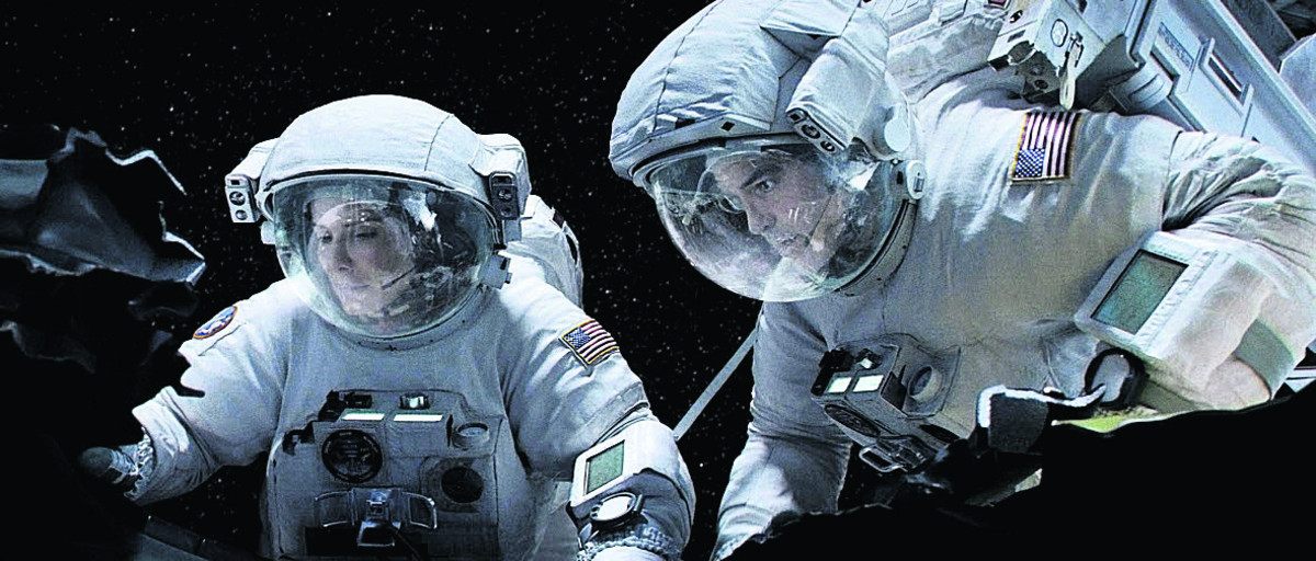 A scene from Gravity - the first film shown at Wantage's new pop-up cinema
