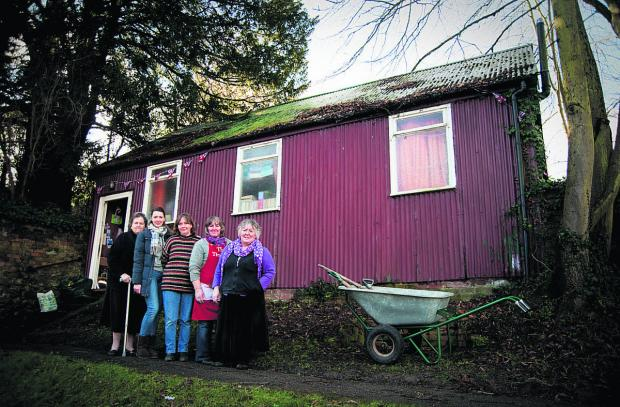 From left, Jenny Freemantle, Sam Riley, Penny Meston, Vanessa Prior and Val Prior outside East Hendred Entertains