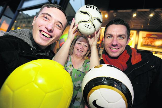 Herald Series: From left, Andrew Baker, Teresa Strike and Dale Harris who are organising a children's football tournament in aid of the Oxford Children's Hospital