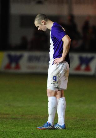 James Constable looks dejected at the