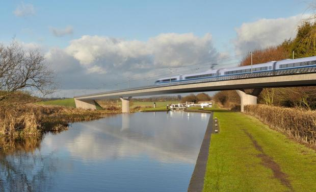 An artist's impression of HS2
