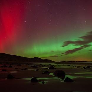 Herald Series: The light phenomenon was seen above Embleton Bay in Northumberland