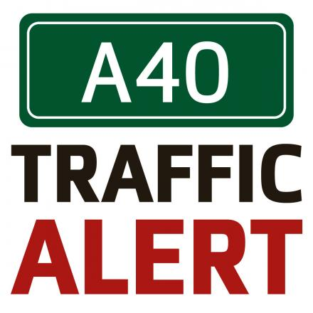 Broken down horsebox causing delays on A40