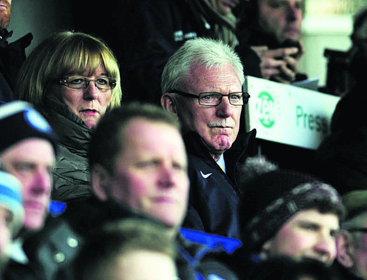 Ian Lenagan watches from the stands at Rochdale last weekend   Picture: David Fleming