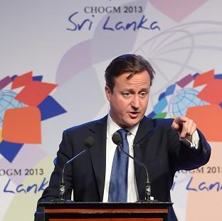 Prime Minister David Cameron during November's summit in Colomb