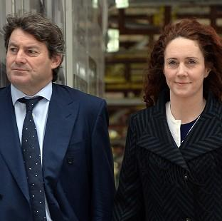 Herald Series: Former News International chief executive Rebekah Brooks and her husband Charlie Brooks arrive at the Old Bailey in London