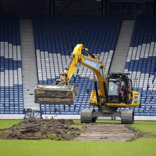 Herald Series: Turf was dug up at Hampden Park to prepare the stadium for the 2014 Commonwealth Games