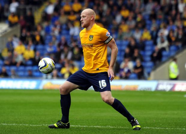 Herald Series: Andy Whing has set his sights on bringing Oxford United a much-needed victory tomorrow at Chesterfield