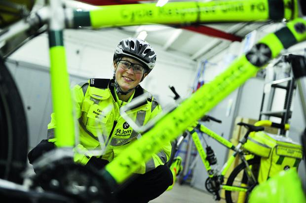 Lucy Bruzzone led a team of St John Ambulance cycle responders in Bicester. Volunteers are now needed to join the first aid cyclists