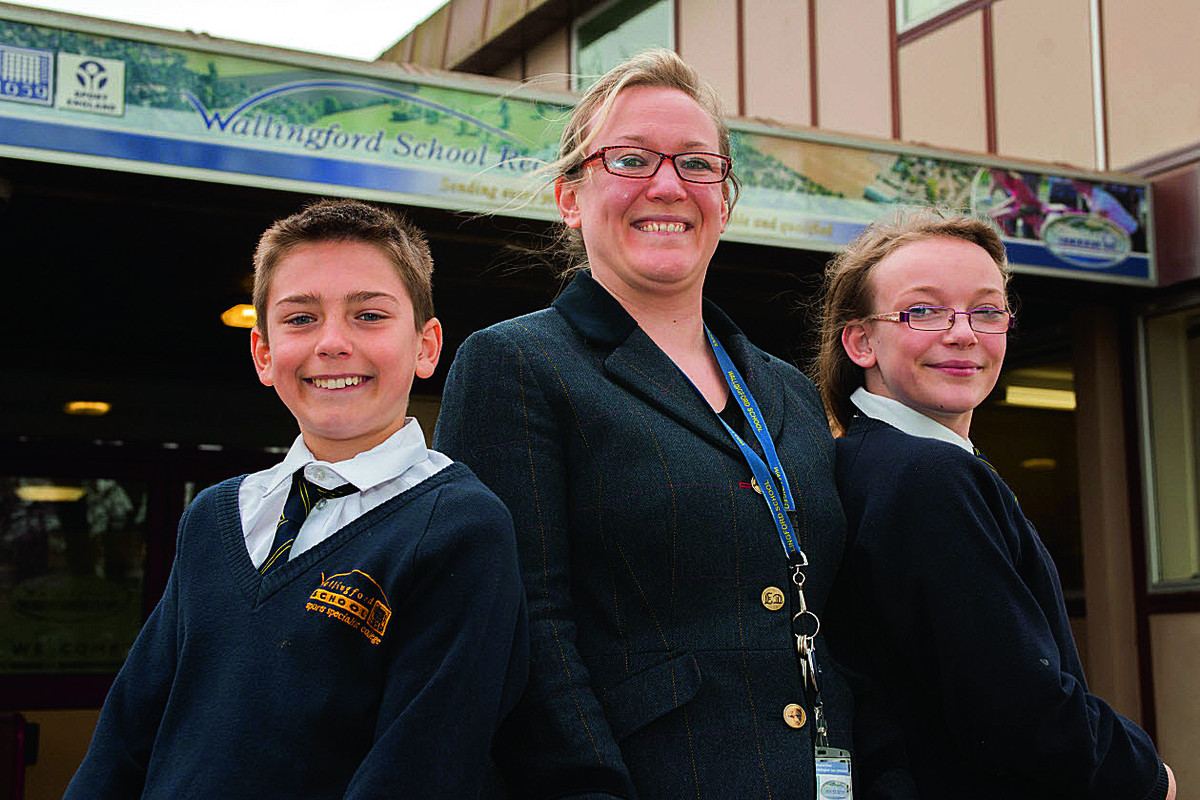 Carnival committee member Kirsty Arnold at Wallingford School with pupils Dylan Few, 12, and Amelia Watkin, 11, who are seeking to become Ambassadors at Wallingford Carnival