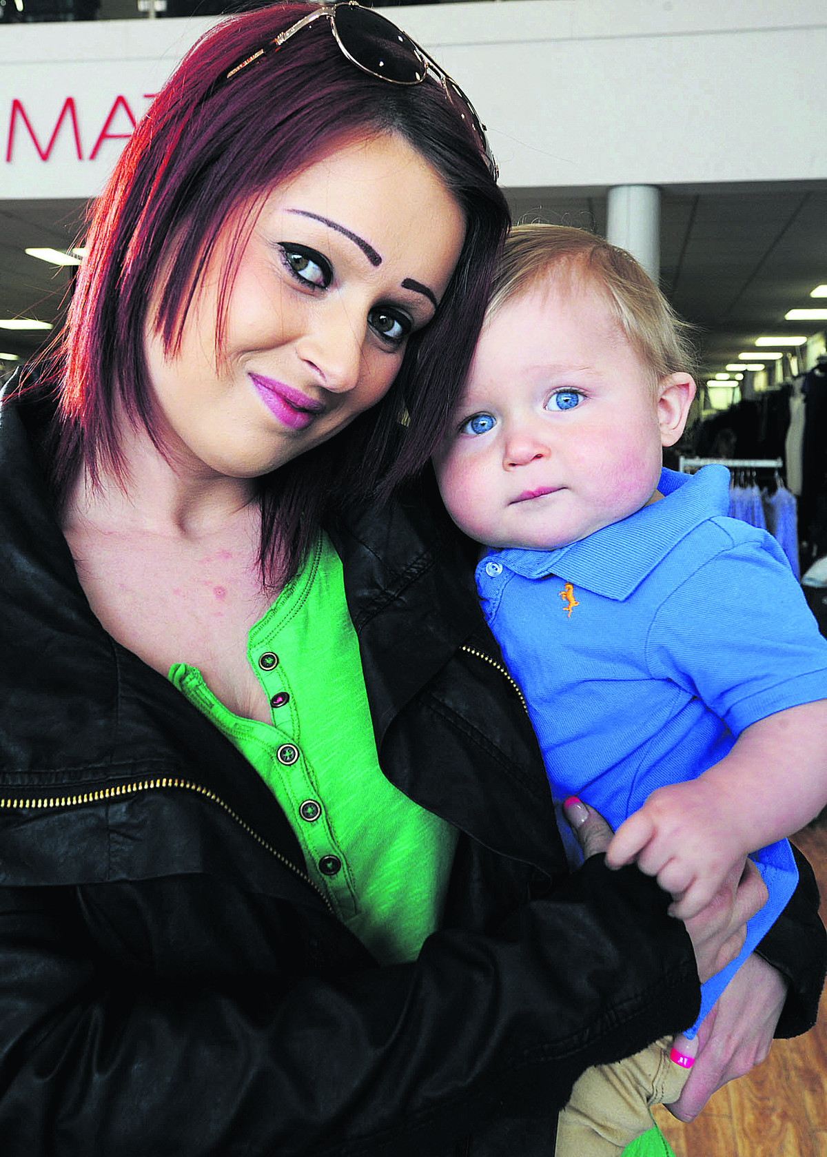 Nine-month-old Cody Moore and mum Shannon, from Kidlington.  Picture: OX66006 Jon Lewis