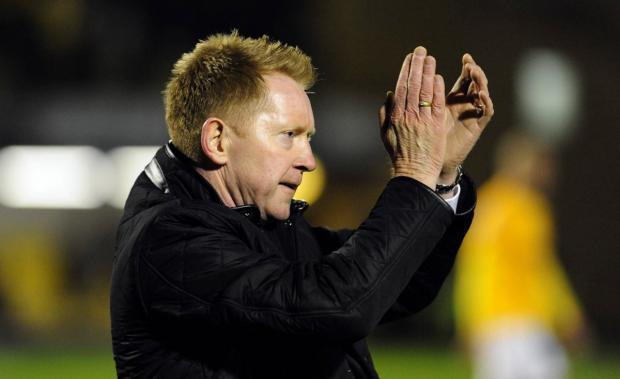Gary Waddock applauds the United fans who made the trip to Southend