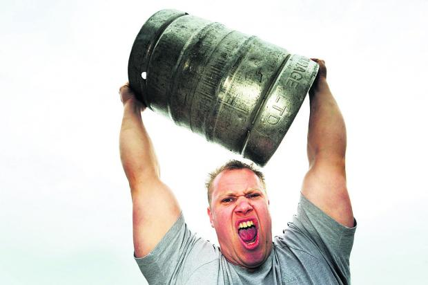 Firefighter Ben Kelsey competed in the World's Strongest Man competition in Los Angeles    Picture: OX66270 Jon Lewis