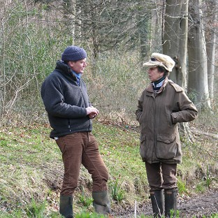Tom Heap interviewing Princess Royal for BBC's Countryfile.