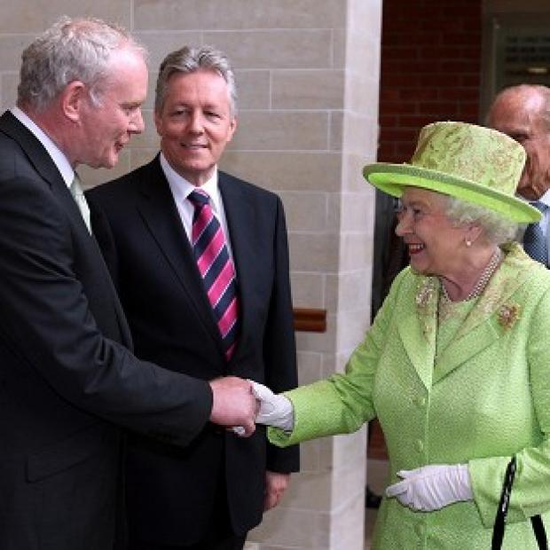Herald Series: Martin McGuinness (left) will be one of the Queen's guests at Windsor Castle.