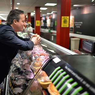 Cameron hails new supermarket jobs