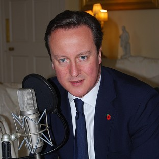 Prime Minister David Cameron reads Rupert Brooke's poem The Soldier for the official First World War centenary album (Decca Records/PA)
