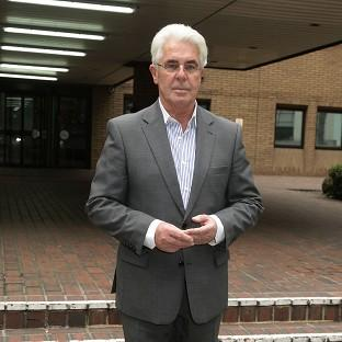 Max Clifford leaving Southwark Crown Court in London as his trial
