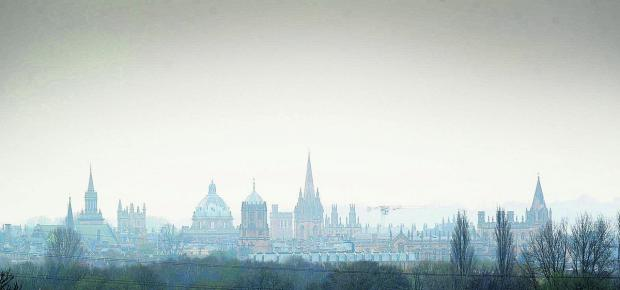 Smog hangs over Oxford last month