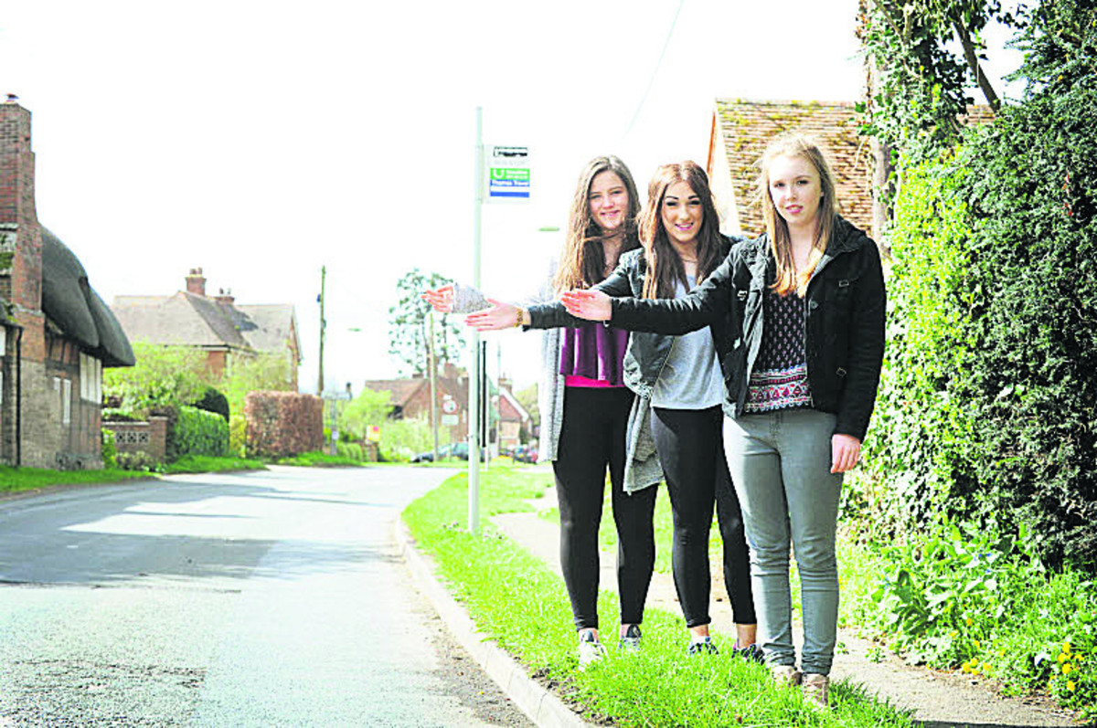 Didcot Girls' School pupils, left to right, Daisy Westhead, Alex Walker and Holly Smith. Picture: OX66462 Jon Lewis