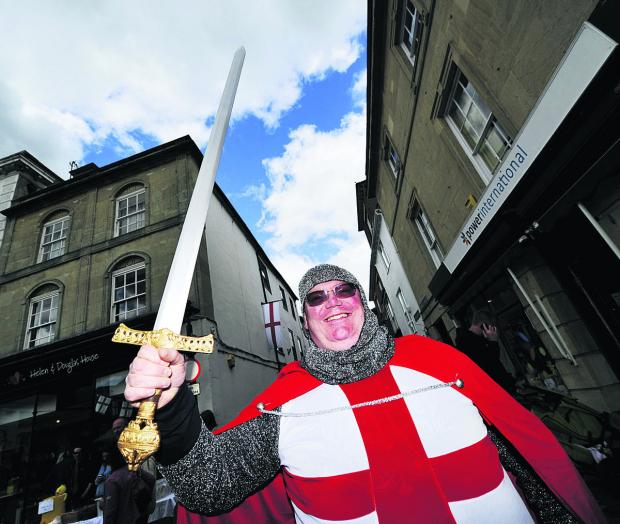 Herald Series: George Small as his namesake St George