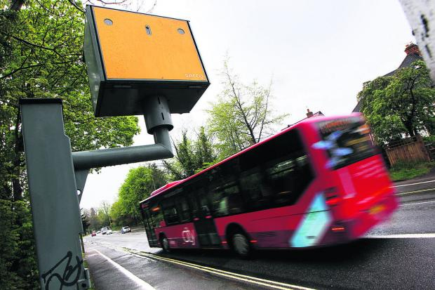 The speed camera on Woodstock Road, Oxford