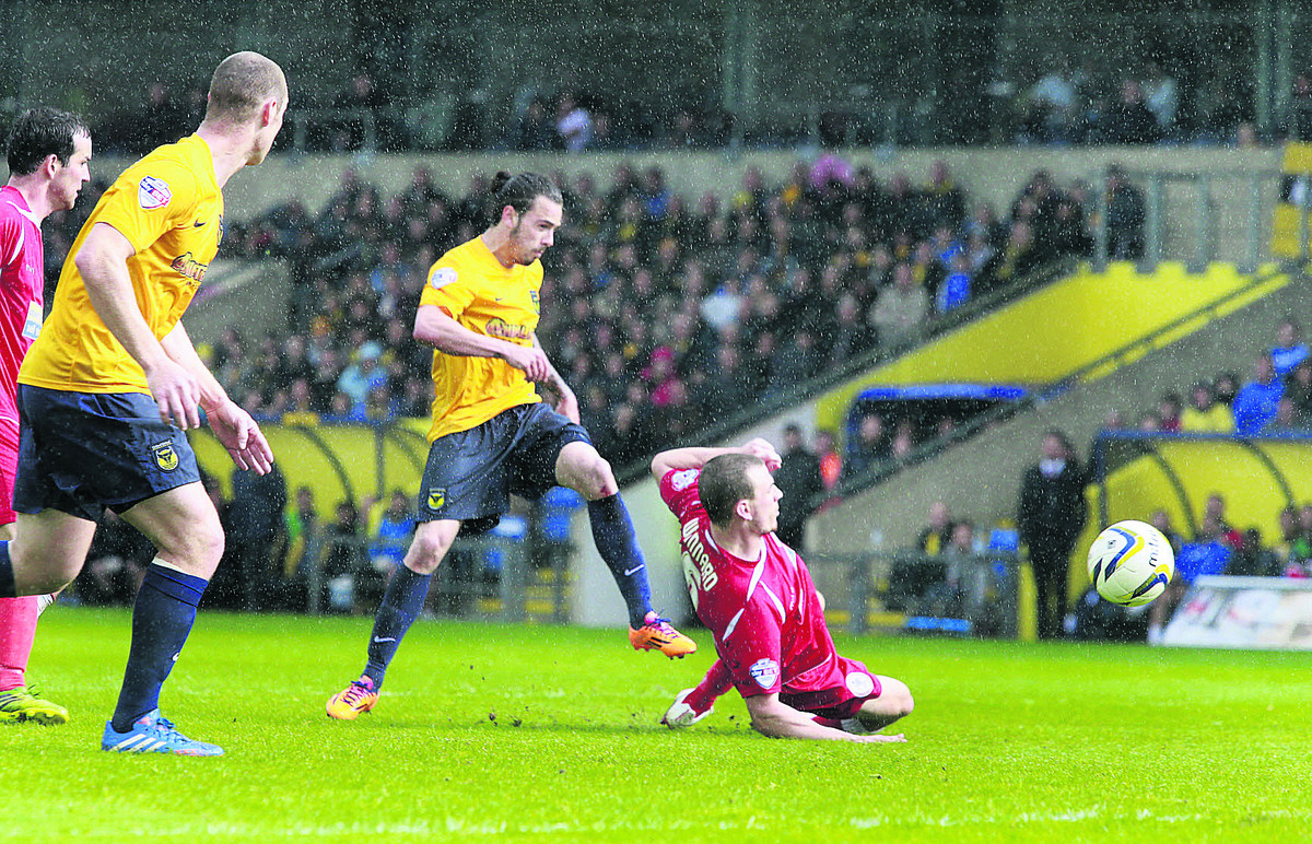 Ryan Williams scores Oxford United's goal