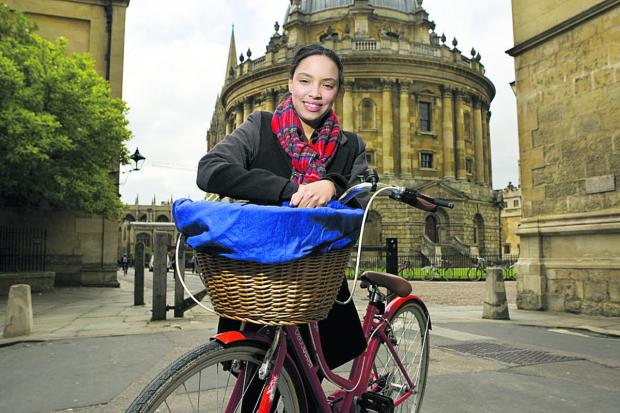 Herald Series: Darnella Daley runs Cycle Tours Oxford, set up thanks to the Prince's Trust              Picture: OX66923 Antony Moore