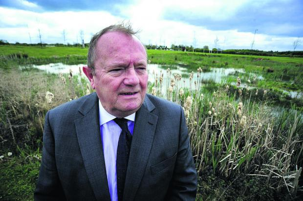 Oxfordshire County Council deputy leader Rodney Rose  at the Kingsmere site near Bicester. Picture: OX66958