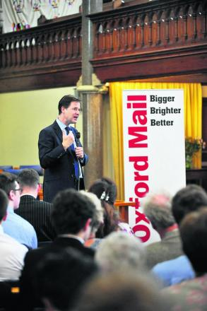 Nick Clegg at Wesley Memorial Methodist Church