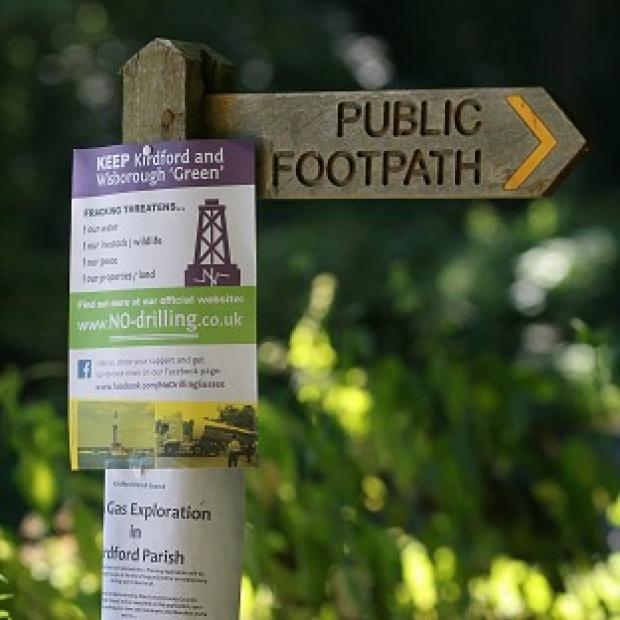 Herald Series: Anti-fracking notices in Wisborough Green, West Sussex