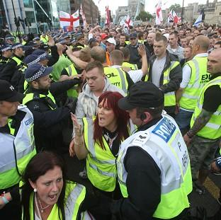 A chief constable has urged a crackdown on rallies by far-right groups such as the English Defence League because they are t