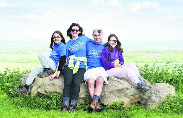 Herald Series: Luch Hoch with her husband Andrew and daughters Eleanor, left, and Alice