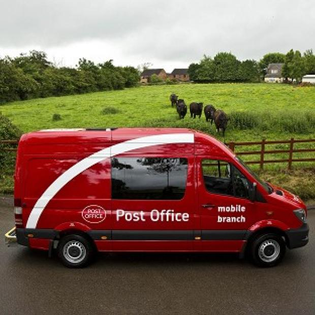 Herald Series: One of 40 new Post Office vehicles, part of the fleet of converted Mercedes Sprinters due to be rolled out as walk-in branches for rural customers