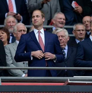 The Duke of Cambridge at Wembley Stadium before England defeated Peru