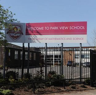 Park View School, which is being investigated after allegations of a hardline Islamist t