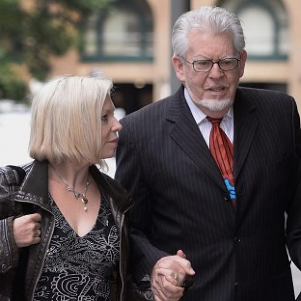 Herald Series: Rolf Harris arrives at Southwark Crown Court with daughter Bindi
