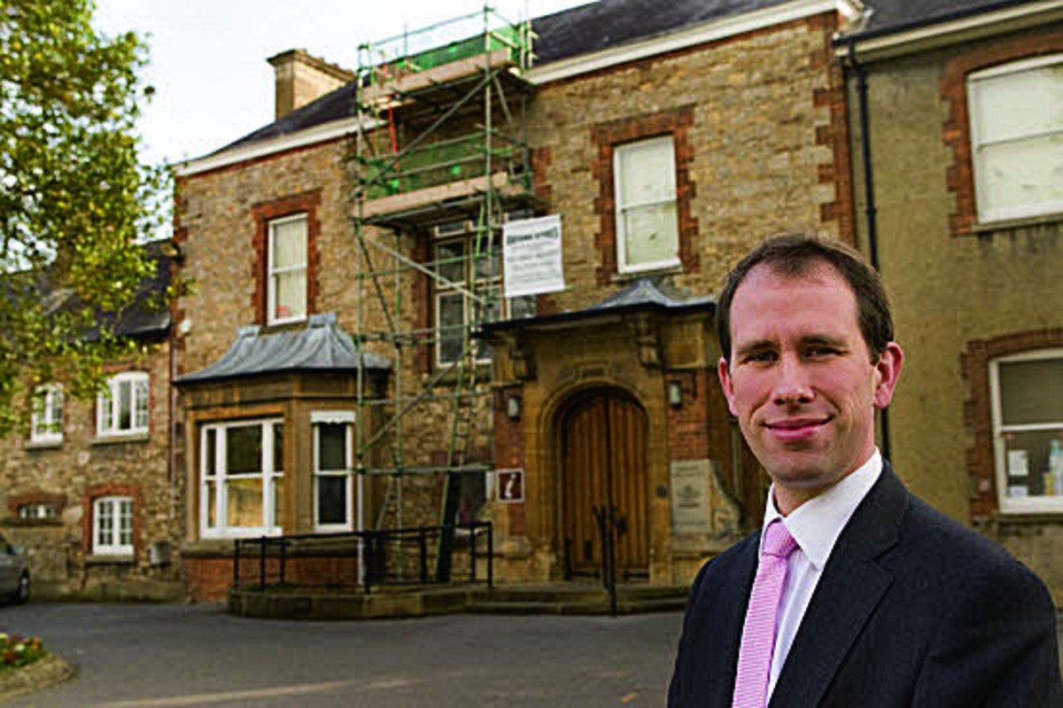 Council leader Matthew Barber at Old Abbey House