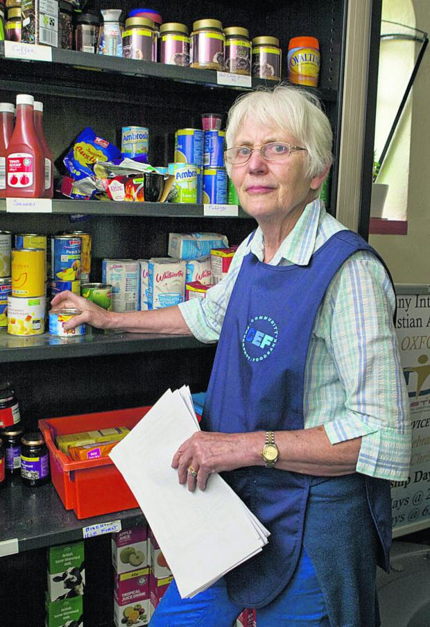 Herald Series: Jane Benyon at the Community Emergency Foodbank in Cowley