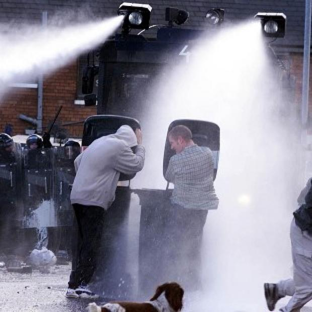 Herald Series: Water cannon have previously been deployed in Northern Ireland