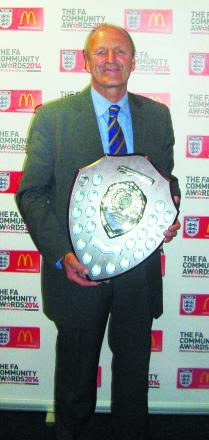 John Blackmore with his award