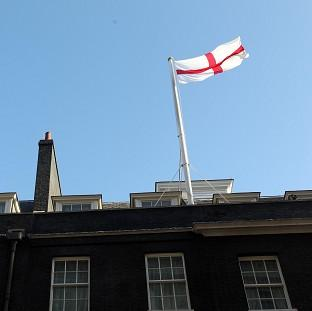 Herald Series: The flag of St George flying over 10 Downing Street