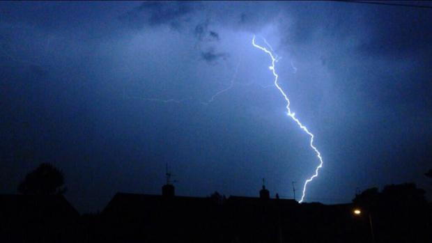 Herald Series: Readers' pictures: Lightning storm over Oxfordshire