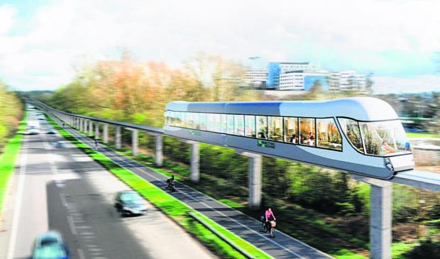 Herald Series: An artist's impression of the monorail