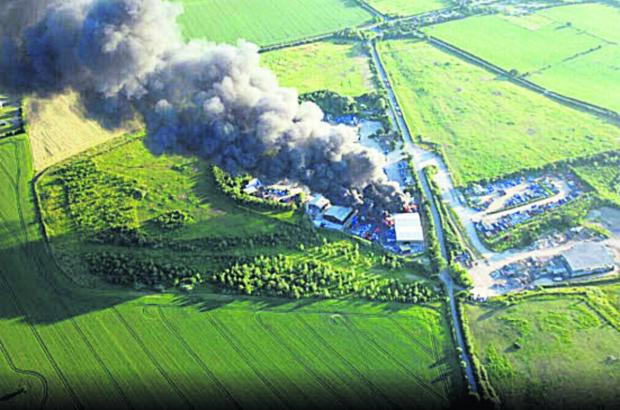 The fire at Grundon Waste Depot