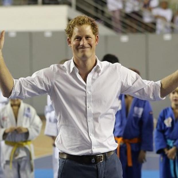 Herald Series: Prince Harry plays basketball in Belo Horizonte on the second day of his tour of Brazil