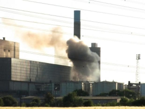 Fire at Didcot Power Station earmarked for demolition