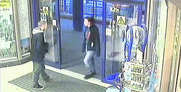 CCTV footage of Ben Blakeley and Jayden Parkinson at Oxford Train Station on Tuesday, December 3, 2013